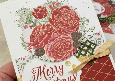 Christmastime is Here Rose Card Ideas