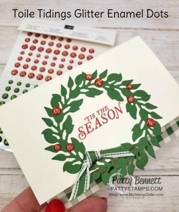 Simple Wreath Christmas Card Idea