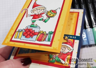 Fold Out Elfie Christmas Card