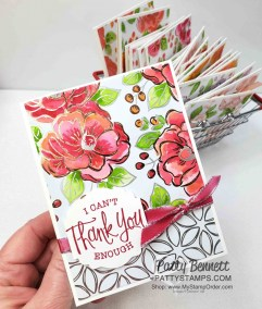 Finished Cards with Flowering Foils paper