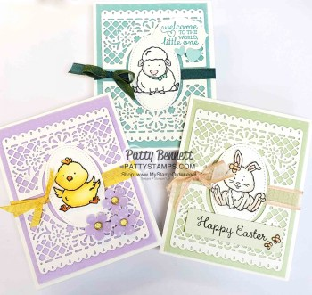 3 Welcome Easter Cards featuring Jubilee Beauty dies