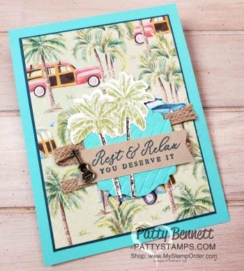 Tropical Oasis Designer Paper Card