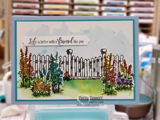 Grace's Garden stamp set from Stampin' Up! - watercolor card by Patty Bennett www.PattyStamps.com