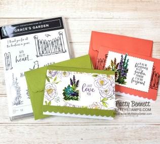 Grace's Garden Scalloped Note Card Ideas