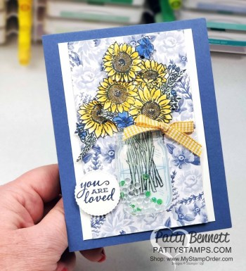 Mason Jar Shaker Dome Card