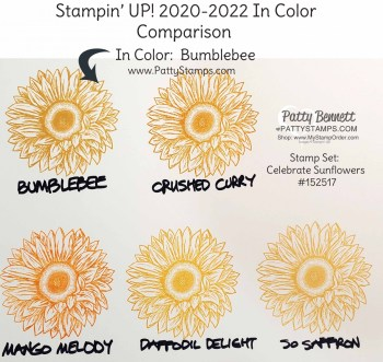 Stampin' UP! 2020-2022 In Color Comparison Chart