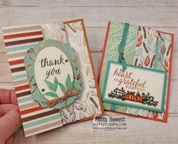 Gilded Autumn Holiday Catalog Fun Fold