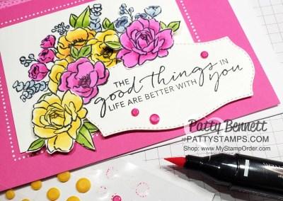 Magenta Madness Jar of Flowers card
