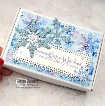Snowflake Splendor Christmas Tags in Gift Box