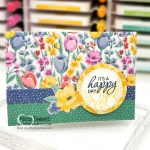 Stampin UP Note Cards featuring Flowers for Every Season designer paper and Pretty Parasol stamp set by Patty Bennett, www.PattyStamps.com