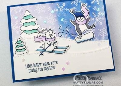 Freezin Fun Bunny on the Slopes