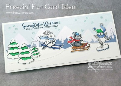 Freezin Fun Slimline card with Stampin' Blends
