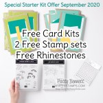 Special offer: Join Stampin UP! in Sept 2020 and enjoy 2 free stamp sets, free card kits to make 16 cards and free rhinestones in your STarter Kit! Join the Luv 2 Stamp Group with Patty Bennett