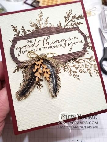 Tasteful Touches Feather Card Idea
