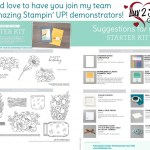 Stampin Up New Demonstrator Starter Kit Suggestion list. Join the Luv 2 Stamp Group, Patty Bennett team leader. www.PattyStamps.com