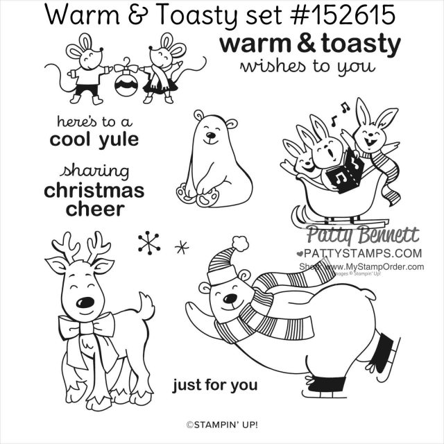 Stampin' UP! Warm & Toasty stamp set #152615 at www.MyStampOrder.com while supplies last