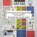 153491 Trimming the Town Designer Paper sale Oct 2020 from Stampin