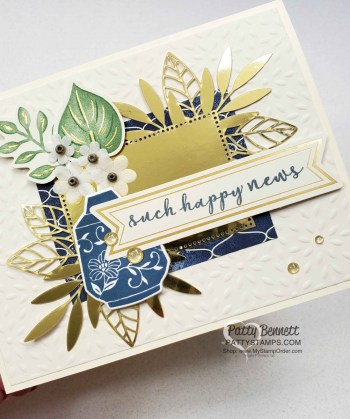 Boho Indigo Cards featuring Forever Gold Laser-Cut dies