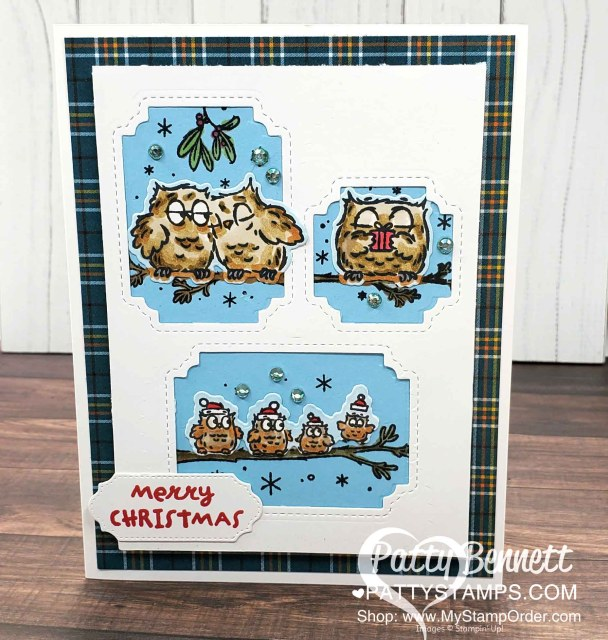 Have a Hoot Stampin' Up! card with die cutting tip, by Patty Bennett www.PattyStamps.com