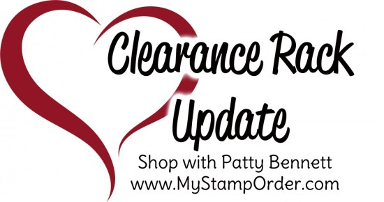 Stampin' UP! Clearance Rack Refresh!!  Enjoy savings on papercrafting and card making supplies online. www.PattyStamps.com