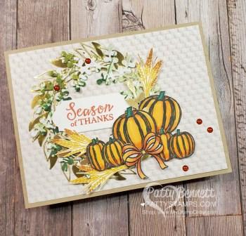 Fall Pumpkin Wreath Card