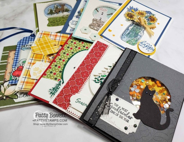 Stampin' UP! Shaker Card Ideas and How To Video tutorial by Patty Bennett www.PattyStamps.com