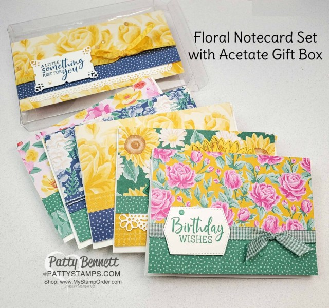 Flowers for Every Season Floral Gift Card set in an acetate box from Stampin' UP!, by Patty Bennett www.PattyStamps.com