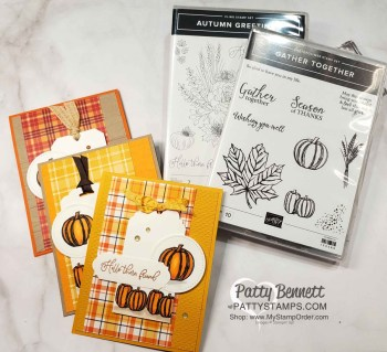 Fall Pumpkin Cards with Plaid Tidings paper