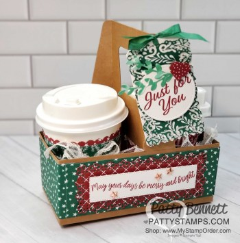 Mini Coffee Cup Carrier with Curvy Celebrations
