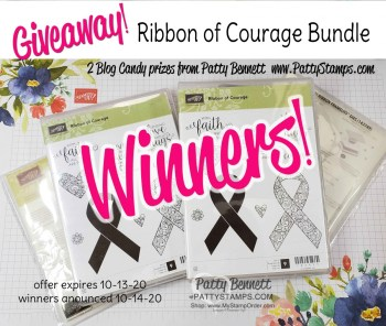 Winners: Ribbon of Courage Bundle Giveaway