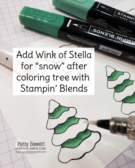 Freezin Fun Bundle from Stampin' Up! colored with Stampin' Blends markers and Wink of Stella glimmer pen!! www.PattyStamps.com