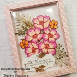 Framed floral art featuring Stampin