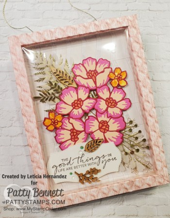 Many Layered Blossoms Framed work of art