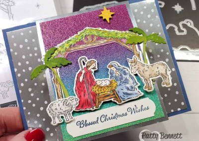 Peaceful Nativity Christmas Card with Stampin' Blends