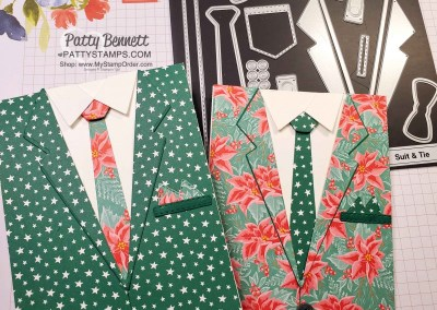 Not So Ugly Christmas Suit and Tie Cards