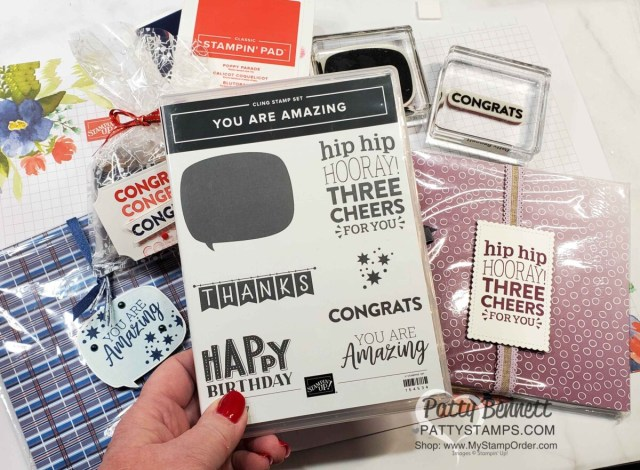 Stampin' Up! You are Amazing stamp set is perfect for gift tags! www.PattyStamps.com