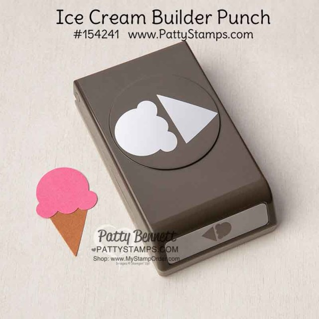 Ice Cream Cone Builder punch from Stampin' Up! #154241 www.PattyStamps.com