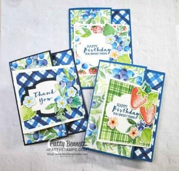 Berry Delightful Blueberry Fun Fold Card