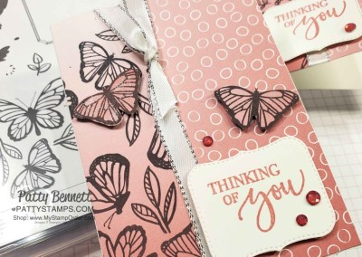 Floating and Fluttering Butterflies on Oh So Ombre paper
