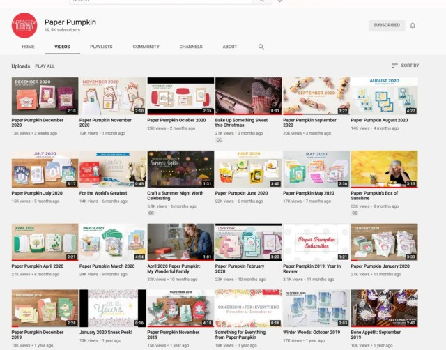 Paper Pumpkin crafting and card making kit video tutorials by Stampin' UP!