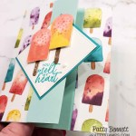 Z fold popsicle card featuring Stampin