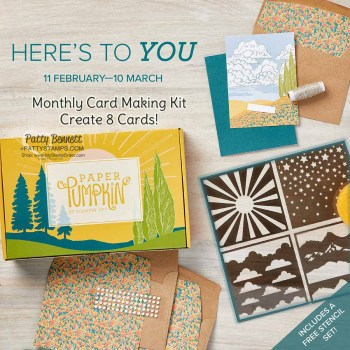 Free Gift with the March 2021 Paper Pumpkin Card Kit!
