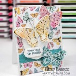 Butterfly Brilliance bundle card idea featuring Butterfly Bijou limited time offer designer paper from Stampin