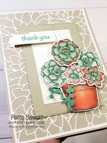Stampin' Blends Simply Succulents Card & Tip!