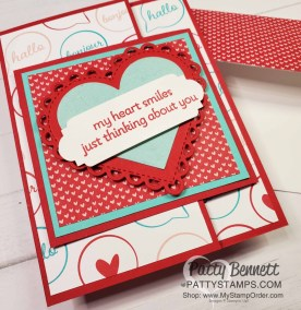Many Hearts Dies Layered Fun Fold Card