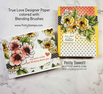 How to Use Blending Brushes on True Love Paper