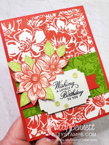 A Very Tropical Delicate Petals Card Idea