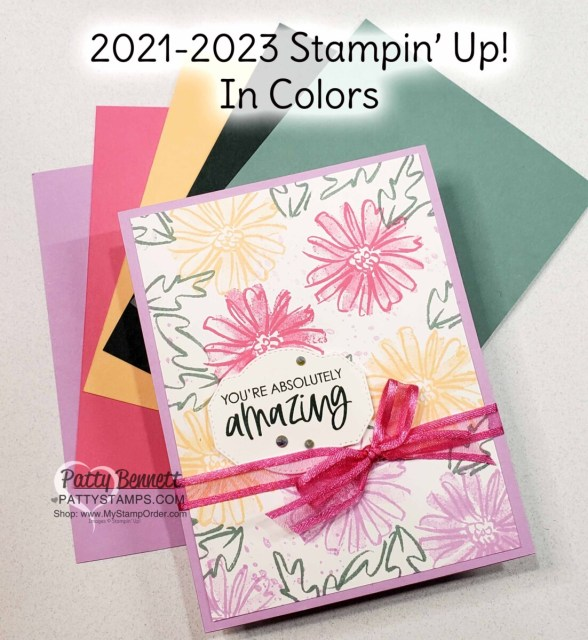Card idea featuring Color & Contour stamp set and 2021-2023 Stampin' Up! In Colors by Patty Bennett www.PattyStamps.com