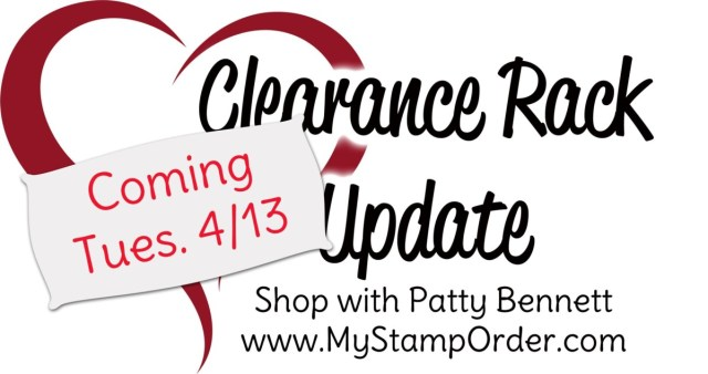 Stampin UP! sale Clearance Rack Update April 13, 2021 www.PattyStamps.com