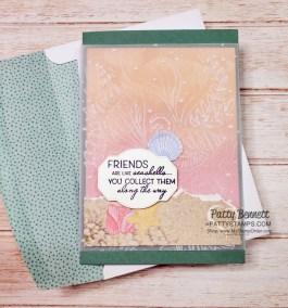 Friends are like Seashells Vellum Cards